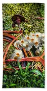 Growing In The Garden Beach Towel
