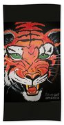 Growling Tiger Beach Towel