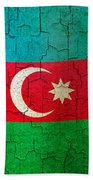 Grunge Azerbaijan Flag Beach Towel