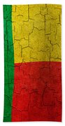 Grunge Benin Flag Beach Towel