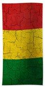 Grunge Bolivia Flag Beach Towel