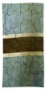 Grunge Botswana Flag Beach Towel