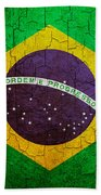 Grunge Brazil Flag Beach Towel