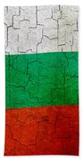 Grunge Bulgaria Flag Beach Towel