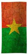 Grunge Burkina Faso Flag Beach Towel