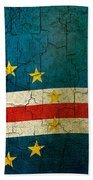 Grunge Cape Verde Flag Beach Towel