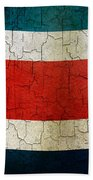 Grunge Costa Rica Flag Beach Towel