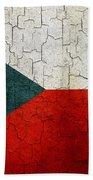 Grunge Czech Republic Flag Beach Towel