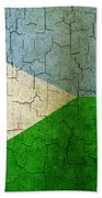 Grunge Djibouti Flag Beach Towel
