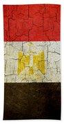 Grunge Egypt Flag Beach Towel