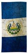 Grunge El Salvador Flag Beach Towel