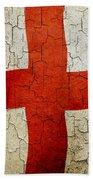 Grunge England Flag Beach Towel