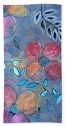 Grunge Floral II Beach Towel