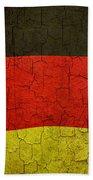 Grunge German Flag Beach Towel