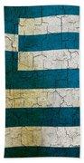 Grunge Greece Flag Beach Towel