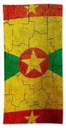 Grunge Grenada Flag Beach Towel