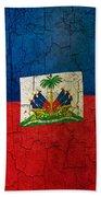 Grunge Haiti Flag  Beach Towel