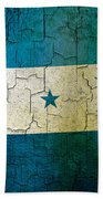 Grunge Honduras Flag Beach Towel