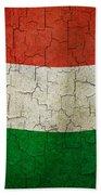 Grunge Hungary Flag Beach Towel