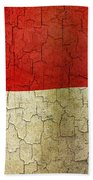 Grunge Indonesia Flag Beach Towel
