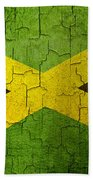 Grunge Jamaica Flag Beach Towel