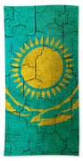 Grunge Kazakhstan Flag Beach Towel