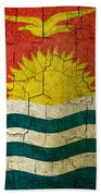 Grunge Kiribati Flag Beach Towel