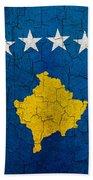 Grunge Kosovo Flag Beach Towel