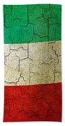Grunge Kuwait Flag Beach Towel