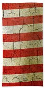 Grunge Liberia Flag Beach Towel