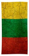 Grunge Lithuania Flag Beach Towel
