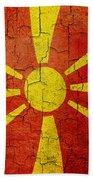 Grunge Macedonia Flag Beach Towel