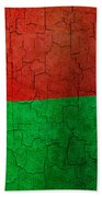 Grunge Madagascar Flag Beach Towel