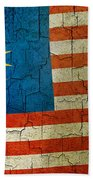 Grunge Malasia Flag  Beach Towel