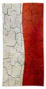 Grunge Malta Flag Beach Towel