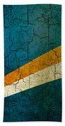 Grunge Marshall Islands Flag Beach Towel
