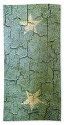 Grunge Micronesia Flag Beach Towel