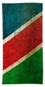 Grunge Namibia Flag Beach Towel