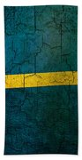 Grunge Nauru Flag Beach Towel