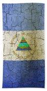 Grunge Nicaragua Flag Beach Towel