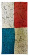Grunge Panama Flag Beach Towel