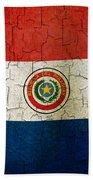 Grunge Paraguay Flag Beach Towel