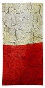Grunge Poland Flag Beach Towel