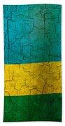 Grunge Rwanda Flag Beach Towel