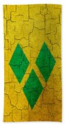 Grunge Saint Vincent And The Grenadines Flag Beach Towel
