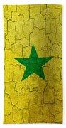 Grunge Senegal Flag Beach Towel