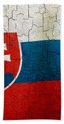 Grunge Slovakia Flag Beach Towel