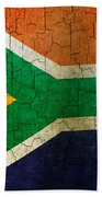 Grunge South Africa Flag Beach Towel