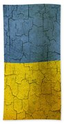 Grunge Ukraine Flag Beach Towel