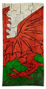 Grunge Wales Flag Beach Towel